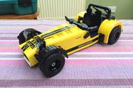 We test the Caterham Seven 620R... in Lego