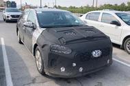 Hyundai Ioniq facelift spyshots front side