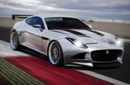 Jaguar F-Type racing car Autocar rendering