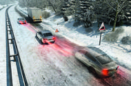 ABS: snow-covered road simulation
