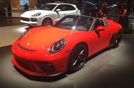 Porsche 911 Speedster debuts in New York with 495bhp flat-six