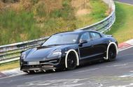 Porsche Mission E testing with advanced autonomous technology and active aerodynamics