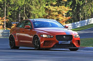 New Jaguar XE SV Project 8 tests at the Nurburgring