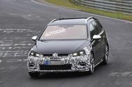 2017 Volkswagen Golf R facelift spotted in estate form at 'Ring
