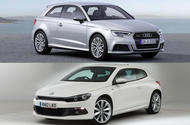 Three-door 3dr Audi A3, Volkswagen Scirocco