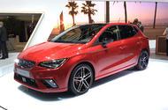 The new SEAT Ibiza is on display at Geneva