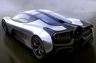 Gordon Murray Design T.50 rear official render