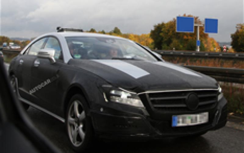 Next Mercedes CLS spied