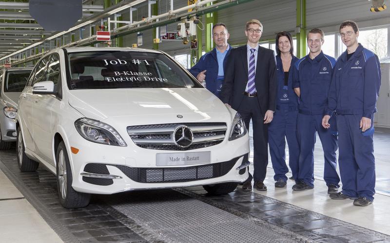 Mercedes-Benz B-class Electric Drive enters production