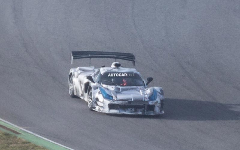 LaFerrari based race car spied
