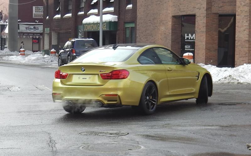 BMW M4 seen early in Detroit