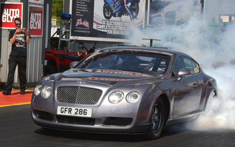 Bentley Continental GT with over 3000bhp to compete in drag race