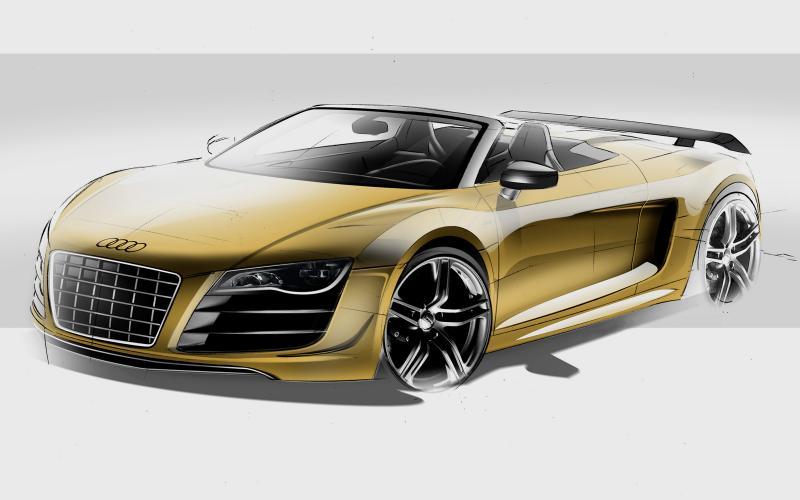 Audi shows new R8 GT Spyder