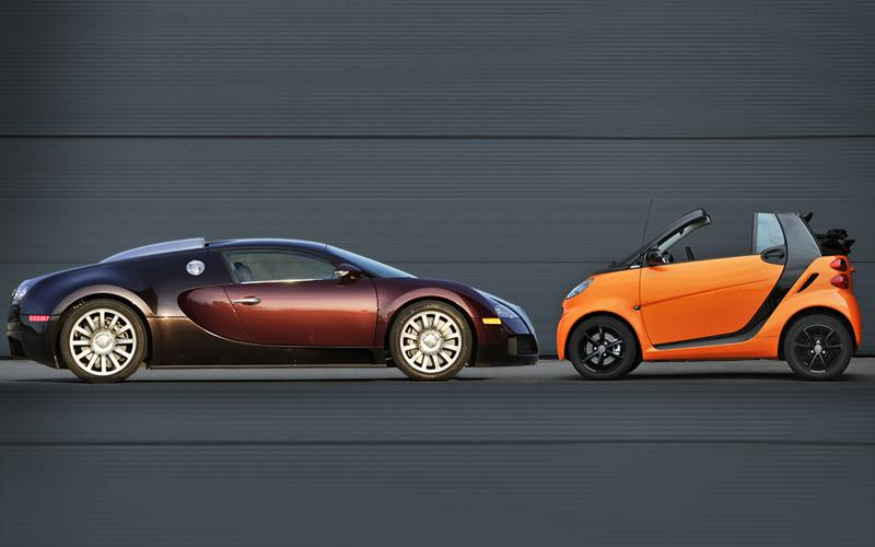 Smart Fortwo and Bugatti Veyron head up list of top loss-making cars