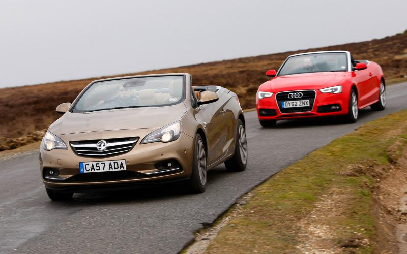 vauxhall cascada v audi a5 top down twin test. Black Bedroom Furniture Sets. Home Design Ideas