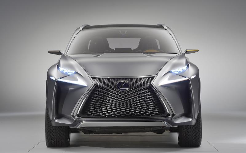 Dramatic Lexus LF-NX concept targets Range Rover Evoque