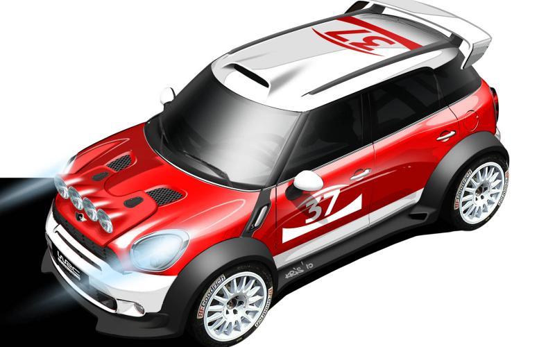 Mini Countryman WRC in action