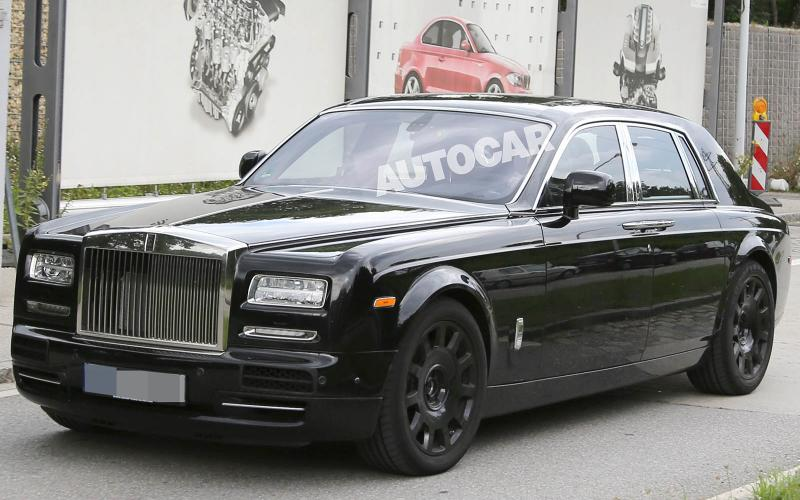 New Rolls-Royce Phantom spotted - first pictures