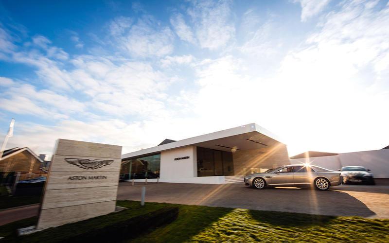 Outside Aston Martin