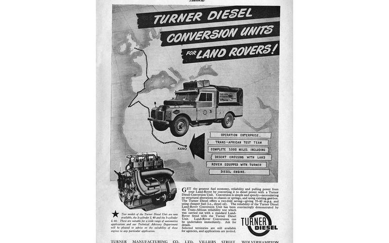 Land Rover diesel conversion (1955)
