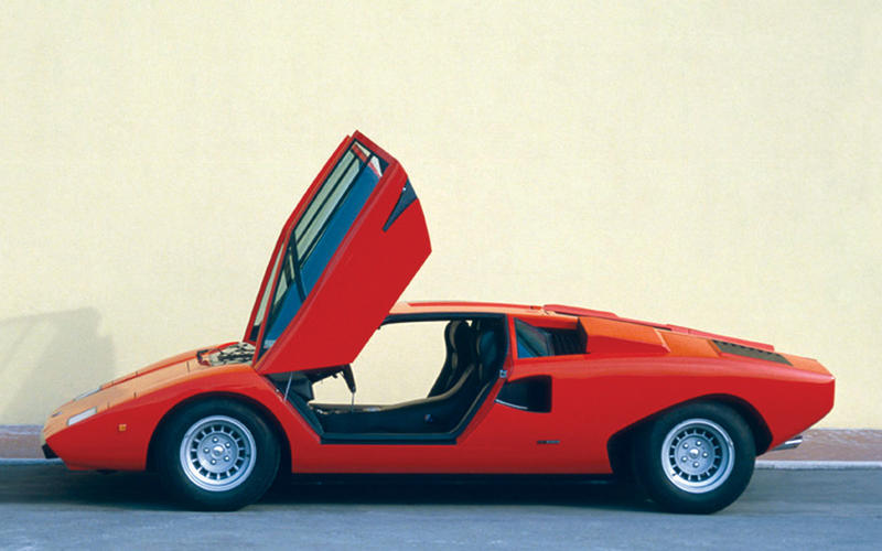 The Countach goes on sale