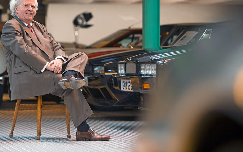 The man you see here owns 3.7 percent of all the Aston Martin Lagondas ever made.