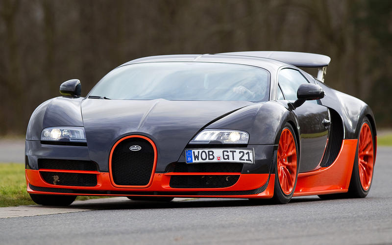 13: Bugatti Veyron Super Sport: 1min 8.50secs