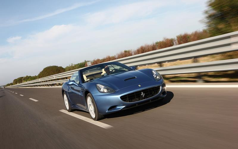 Ferrari with a manual transmission: California, 2012