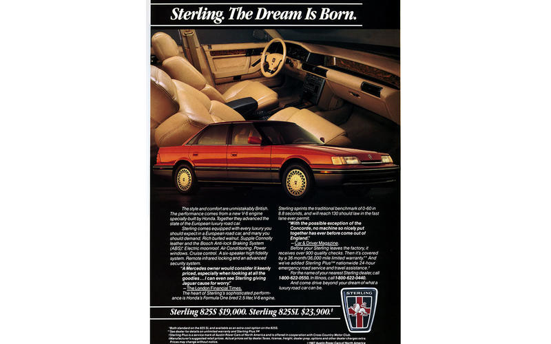 Sterling (Rover): 1987-1991