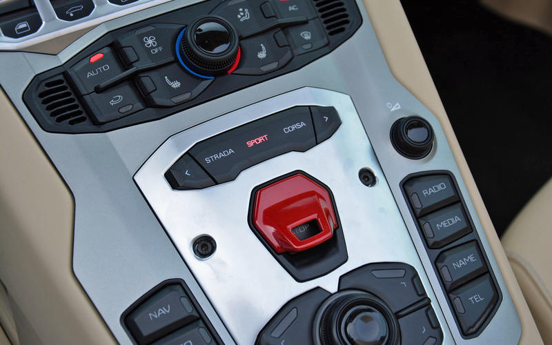 Lamborghini – flip-up ignition switch cover
