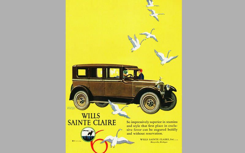 REVERSING/BACK-UP LIGHT: Wills Sainte Claire (1922)