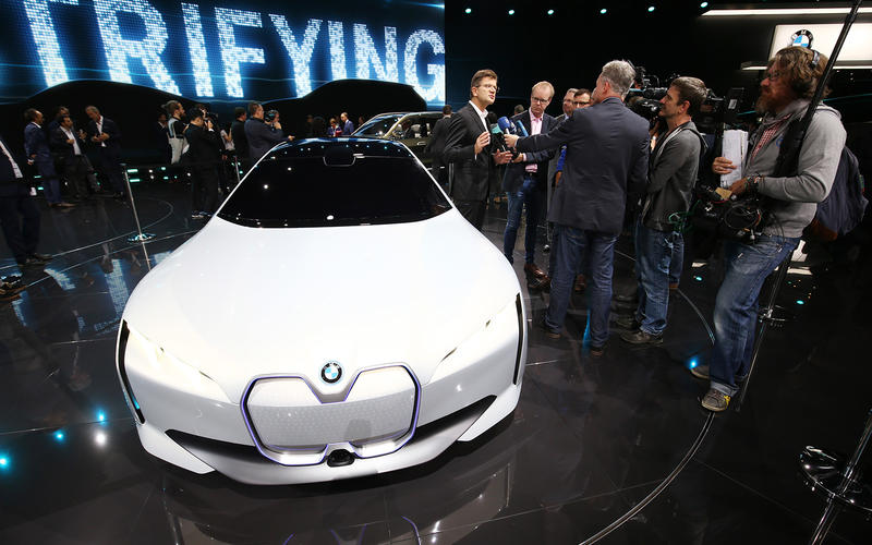Meet BMW's new electric saloon car. It's similar in size as the current BMW 3 Series, and you'll be able to buy it in 2021.