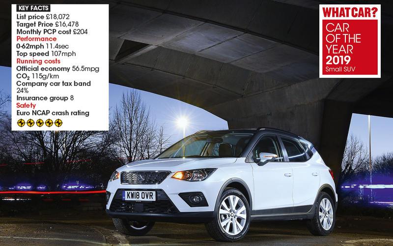 Overall Small SUV winner: Seat Arona 1.0 TSI 95 SE Technology