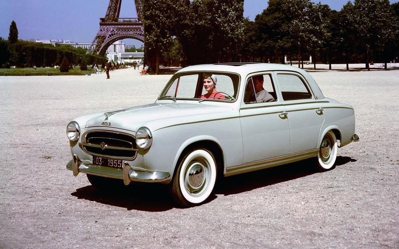 Peugeot marches in (1958)