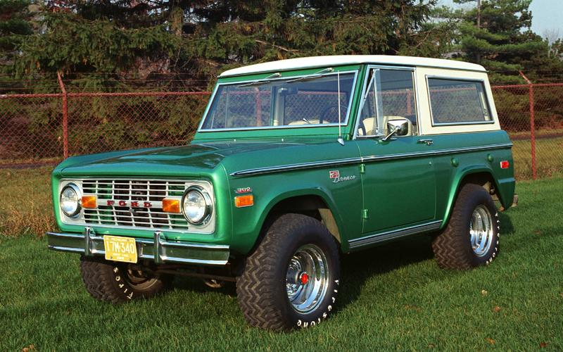 The Bronco as a collector's item (2018)