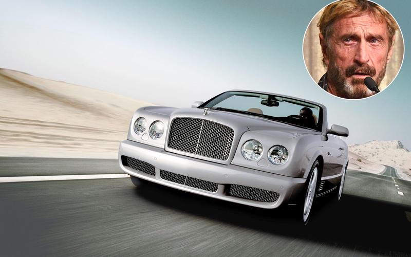 John McAfee - Bentley Azure