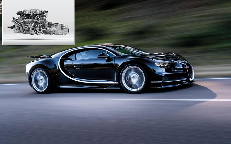 Bugatti Chiron: 8.0 litres