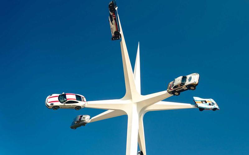 Porsche central sculpture