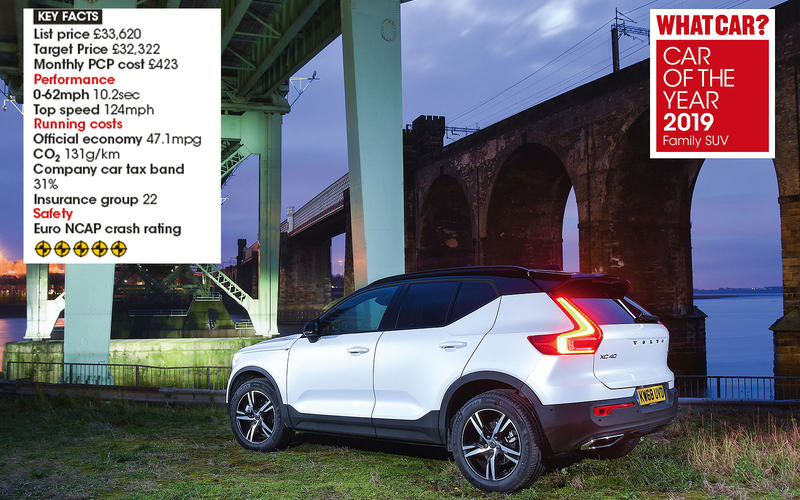 Overall Family SUV winner: Volvo XC40 D3 FWD R-Design Geartronic