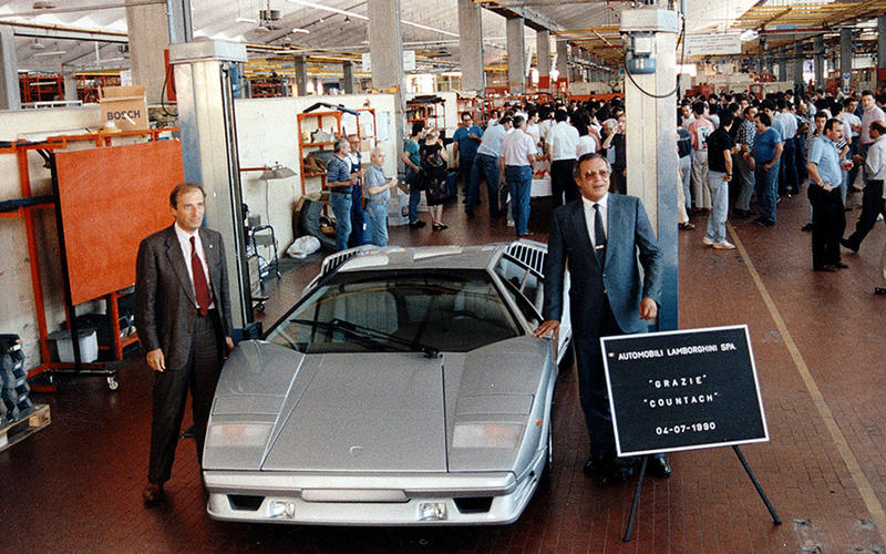 The last Countach is made