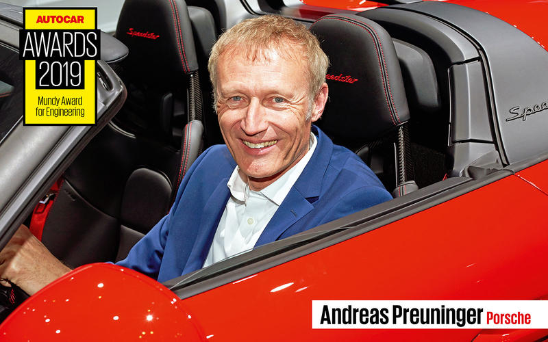 MUNDY AWARD FOR ENGINEERING: Andreas Preuninger – Porsche