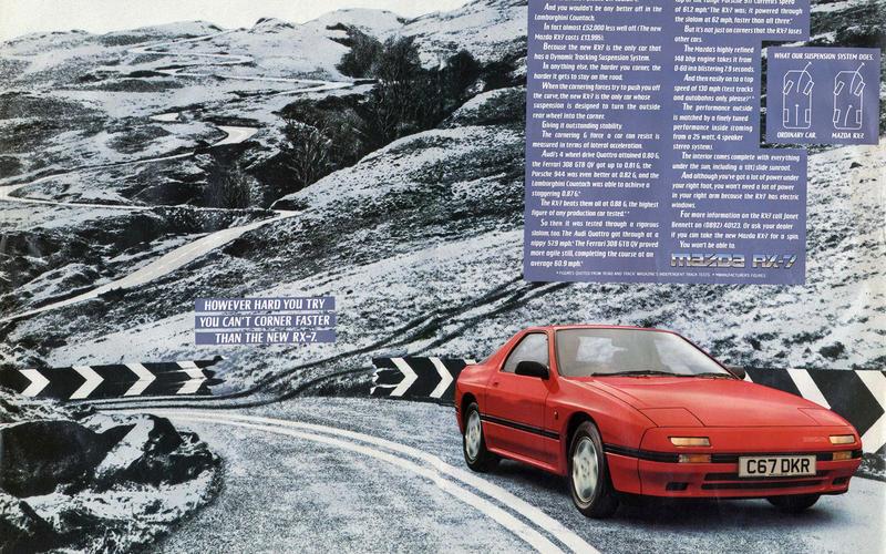 Mazda RX-7 Mk2 advert