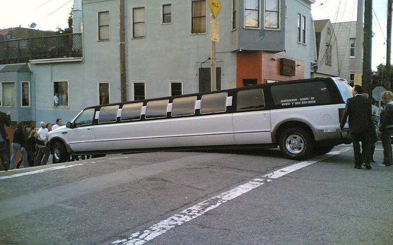 Beached limo