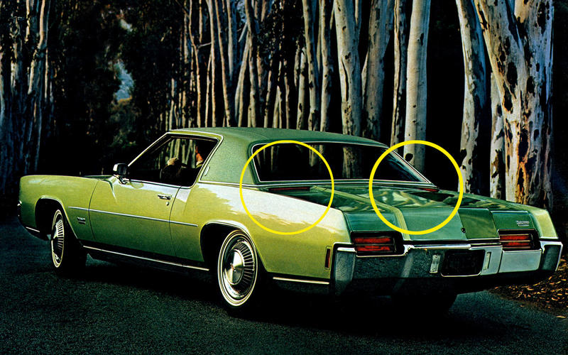 HIGH LEVEL BRAKE/STOP LIGHTS: Oldsmobile Toronado (1971)