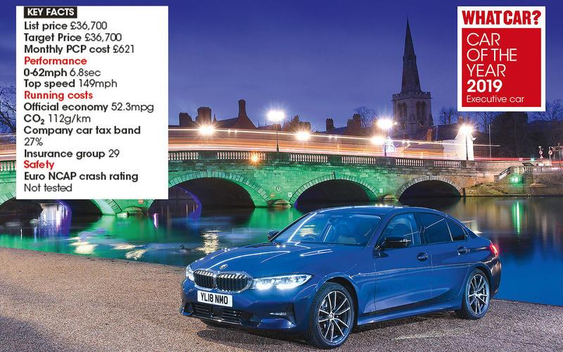 Overall Executive Car winner: BMW 3 Series 320d Sport auto