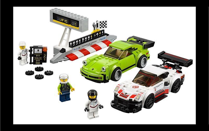 Porsche 911 RSR and 911 Turbo (Speed Champions set #75888, US$24/£35)