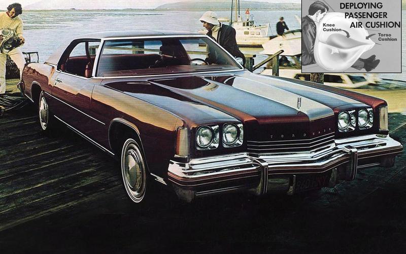 AIRBAGS: General Motors range (1974)