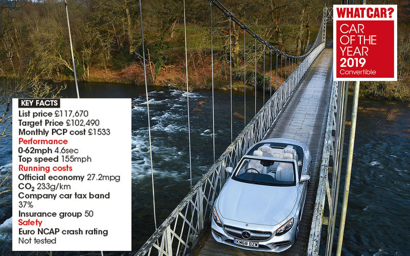Overall Convertible winner: Mercedes-Benz S-Class Cabriolet S560 AMG Line