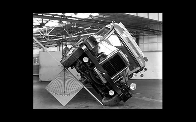 FIRST BARRIER IMPACT AND ROLLOVER TESTS (1934)