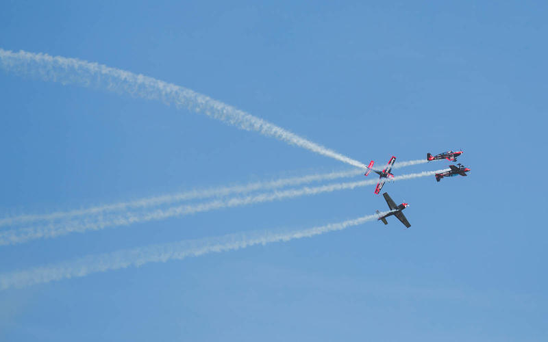 Aerobatics displays turn heads skyward